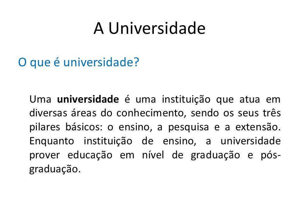 A Universidade O que é universidade
