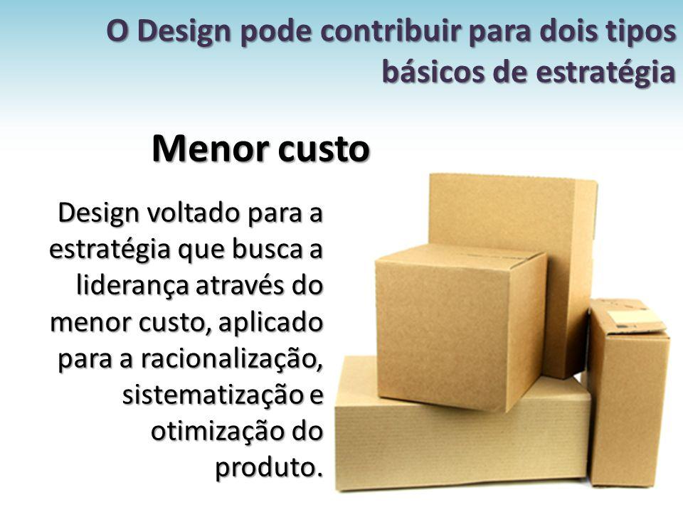 O Design pode contribuir para dois tipos básicos de estratégia
