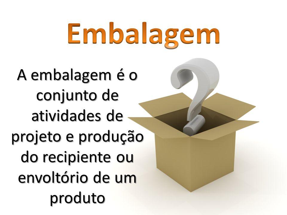 Embalagem A embalagem é o conjunto de atividades de projeto e produção do recipiente ou envoltório de um produto.