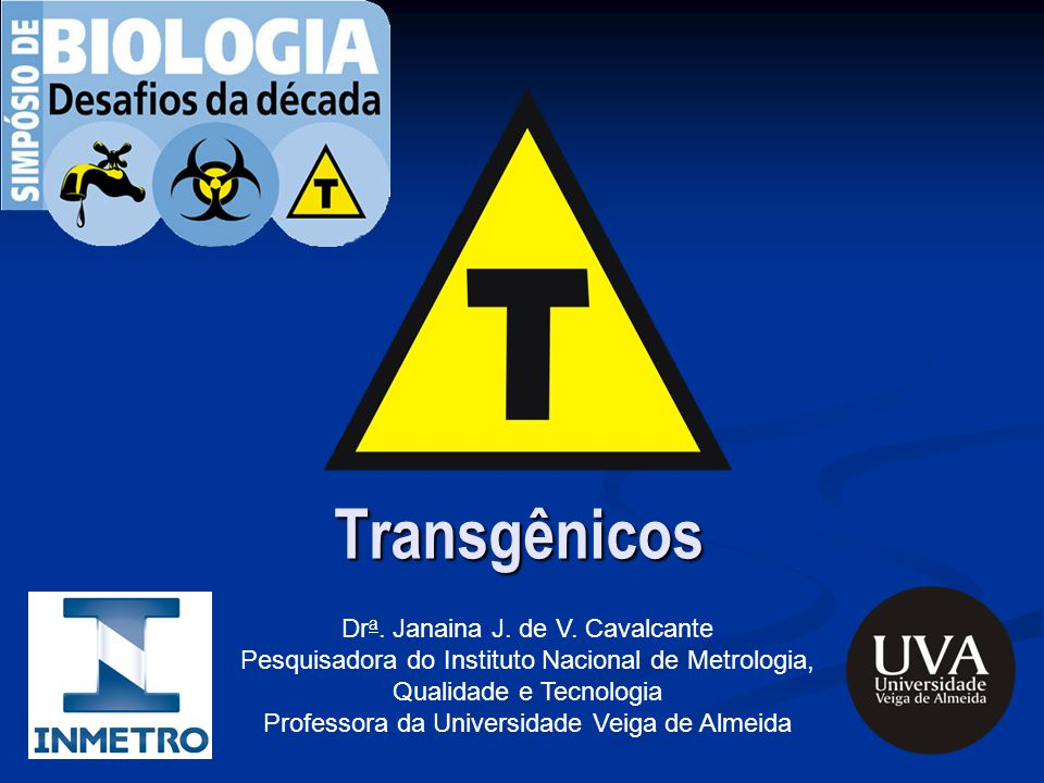 Transgênicos Dra. Janaina J. de V. Cavalcante
