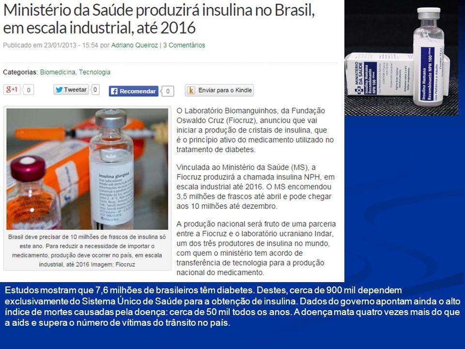 Estudos mostram que 7,6 milhões de brasileiros têm diabetes