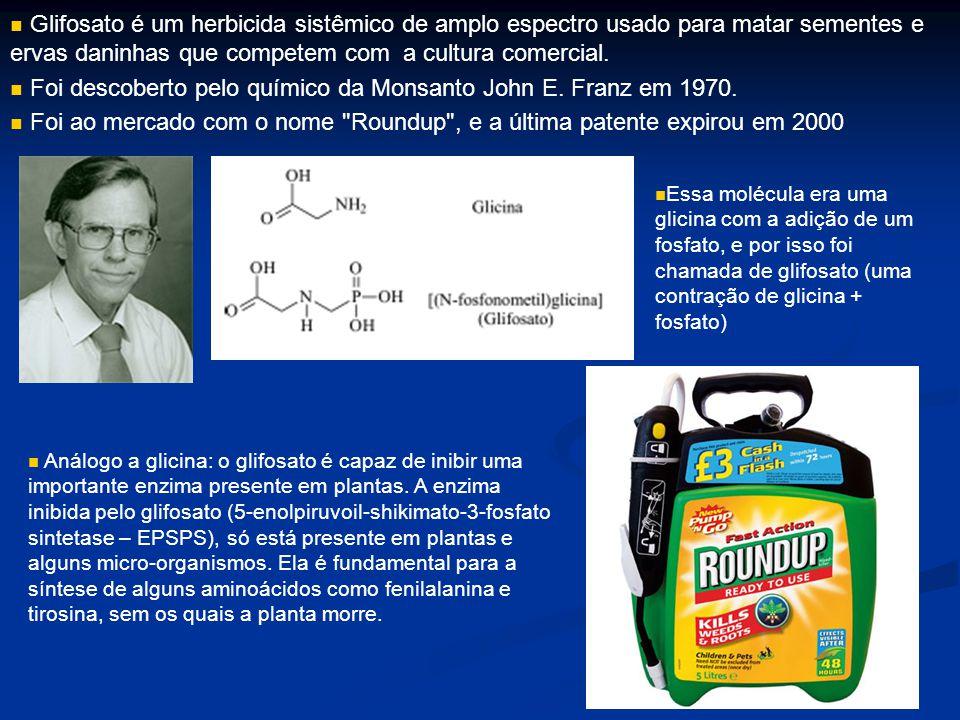 Foi descoberto pelo químico da Monsanto John E. Franz em 1970.