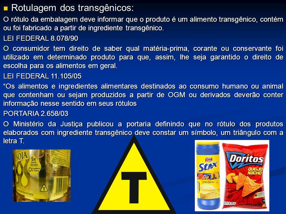 Rotulagem dos transgênicos: