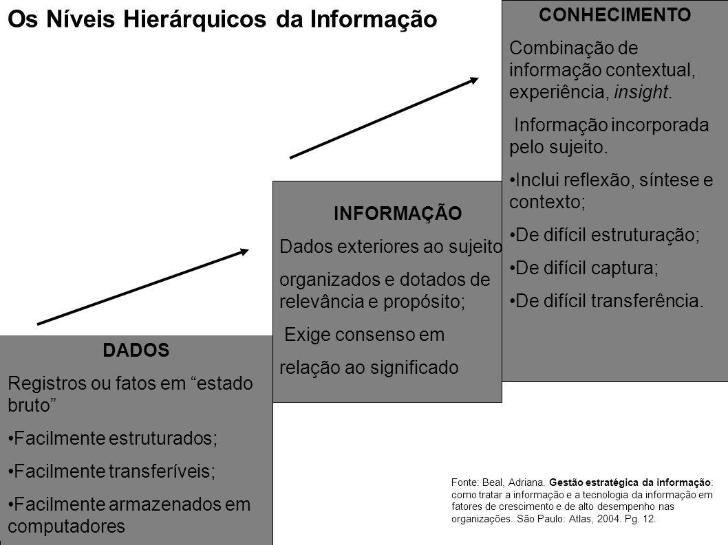 Os Níveis Hierárquicos da Informação