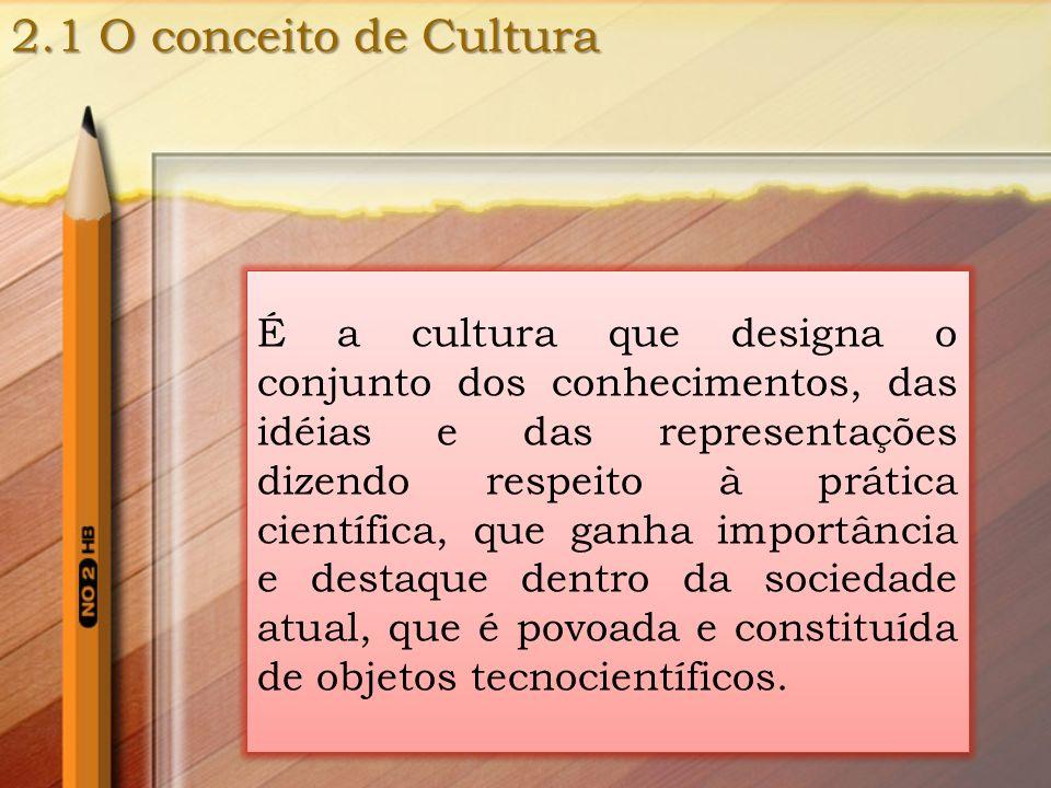2.1 O conceito de Cultura