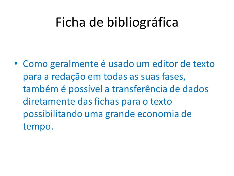 Ficha de bibliográfica