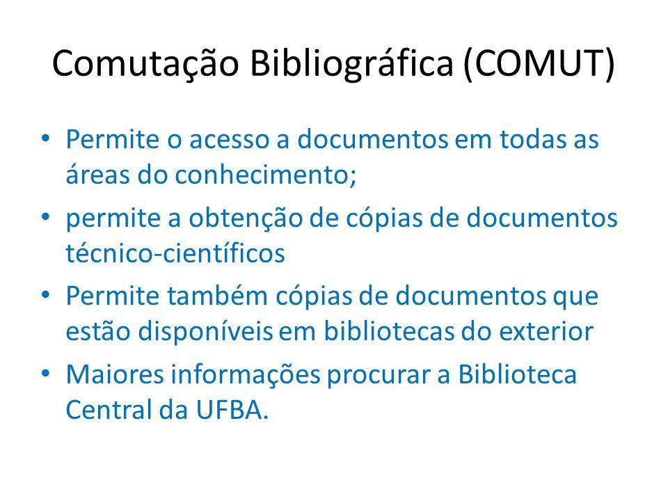 Comutação Bibliográfica (COMUT)