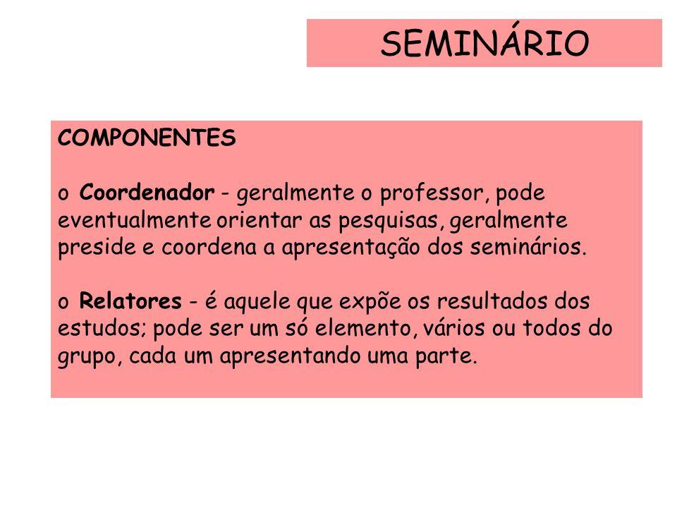 SEMINÁRIO COMPONENTES