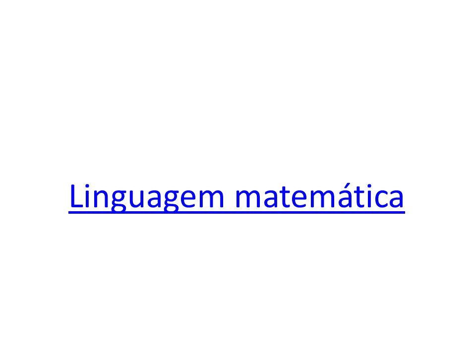 Linguagem matemática