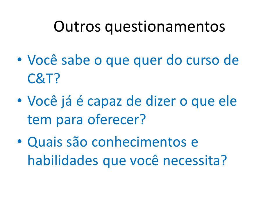 Outros questionamentos