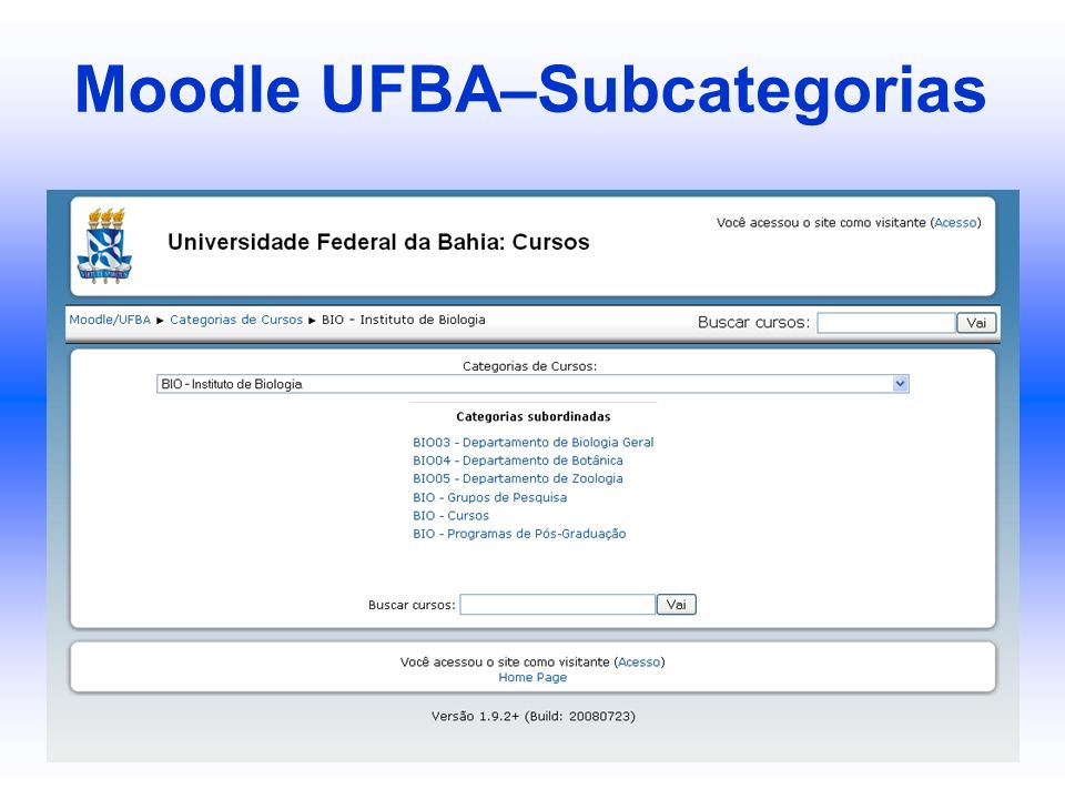 Moodle UFBA–Subcategorias