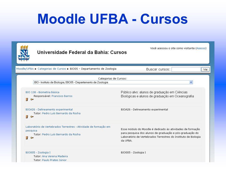 Moodle UFBA - Cursos