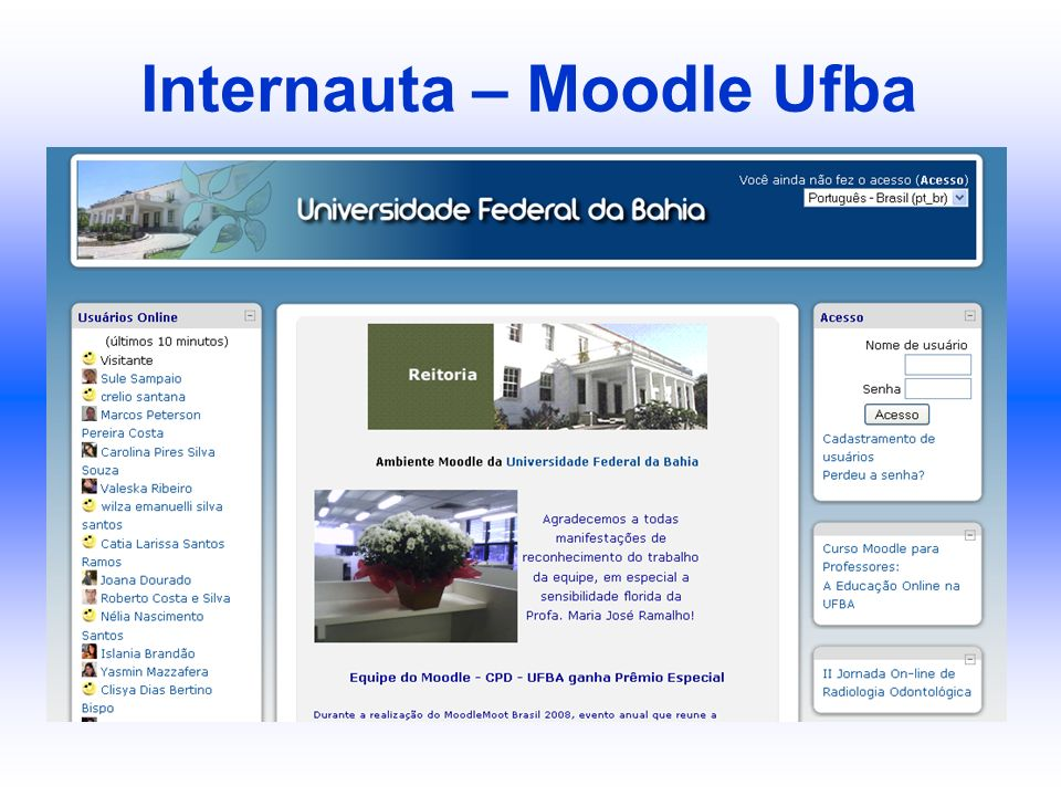 Internauta – Moodle Ufba
