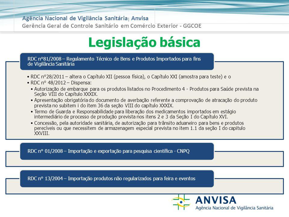 Gerência Geral de Controle Sanitário em Comércio Exterior - GGCOE