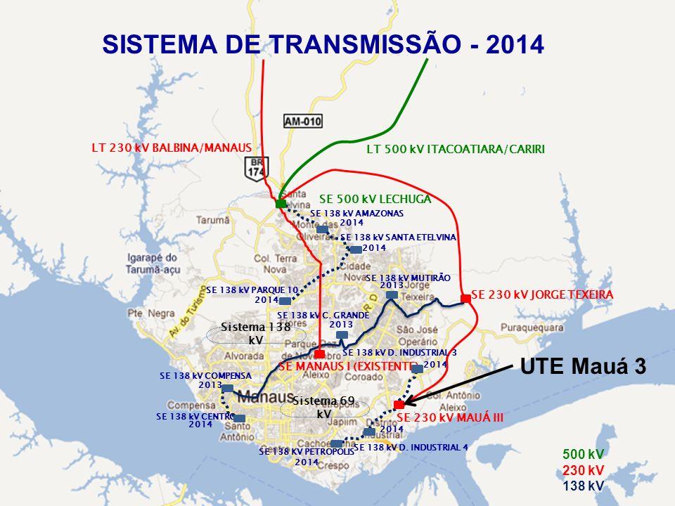 LT 500 kV ITACOATIARA/CARIRI SE MANAUS I (EXISTENTE)
