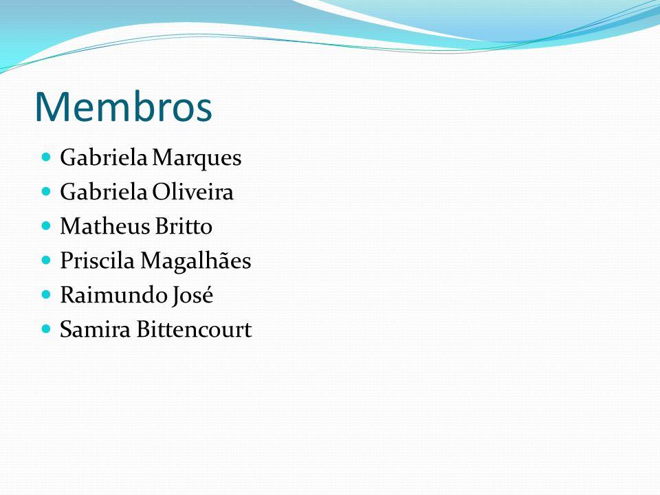 Membros Gabriela Marques Gabriela Oliveira Matheus Britto