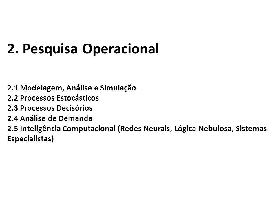 2. Pesquisa Operacional
