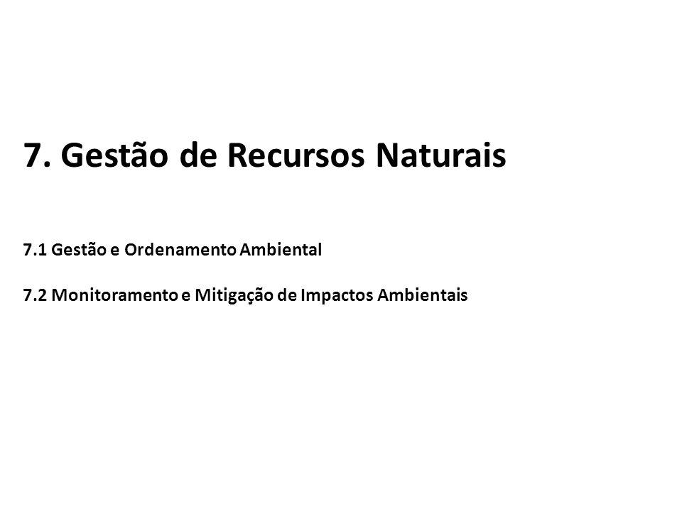 7. Gestão de Recursos Naturais