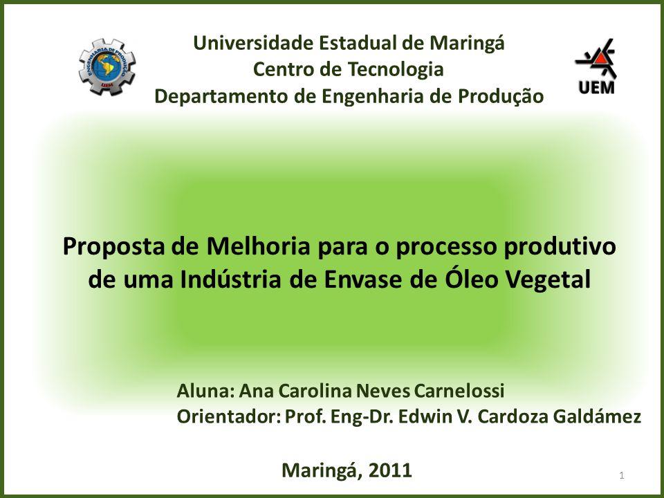 M ' Universidade Estadual de Maringá Centro de Tecnologia Departamento de Engenharia de Produção.