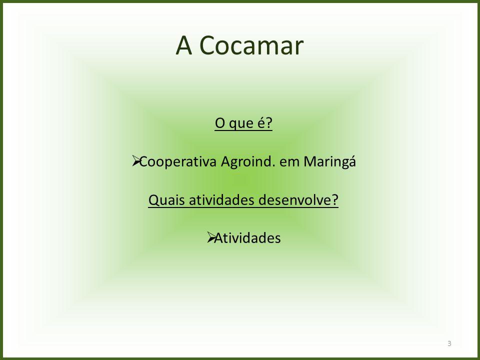 A Cocamar O que é Cooperativa Agroind. em Maringá