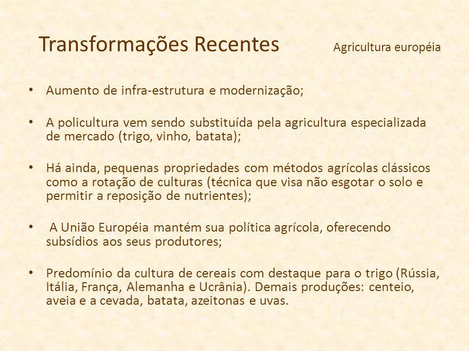 Transformações Recentes Agricultura européia