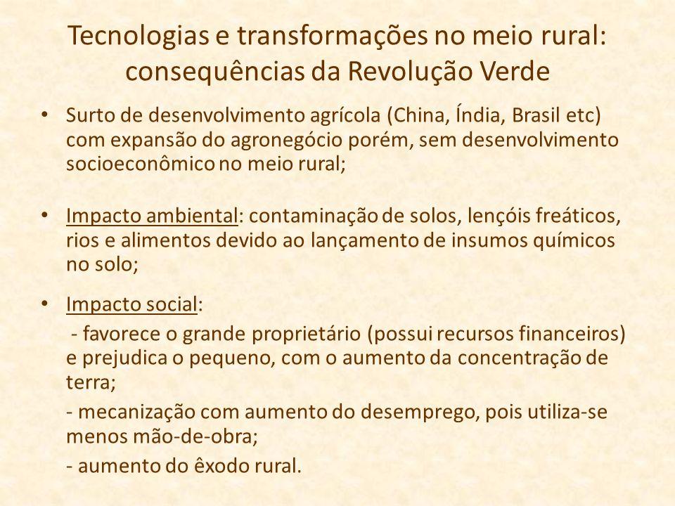 Tecnologias e transformações no meio rural: consequências da Revolução Verde