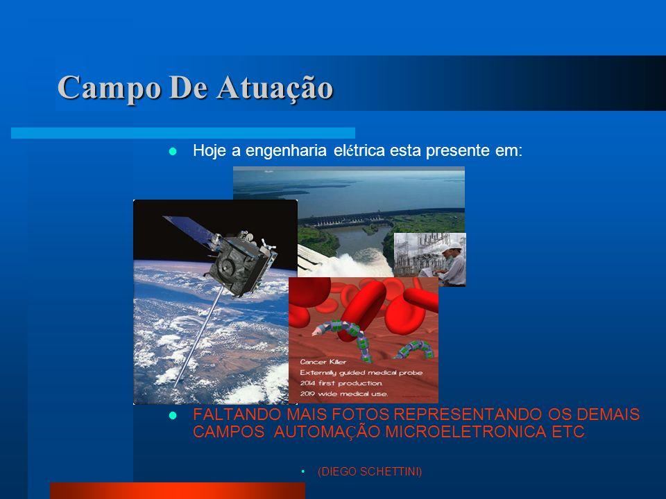Campo De Atuação Hoje a engenharia elétrica esta presente em: