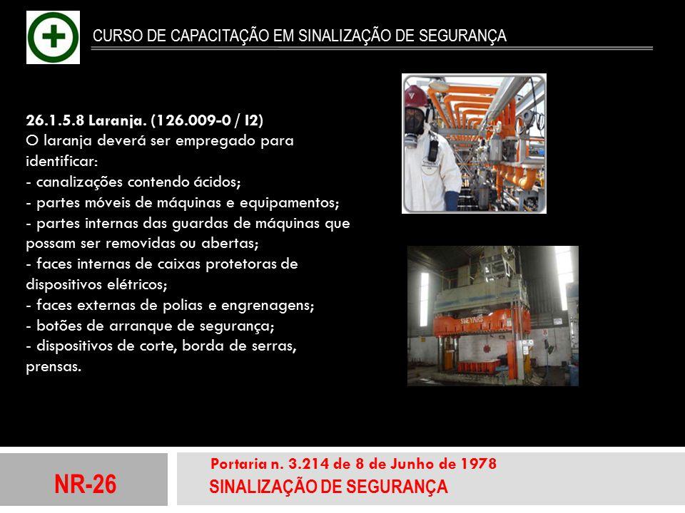 NR-26 SINALIZAÇÃO DE SEGURANÇA