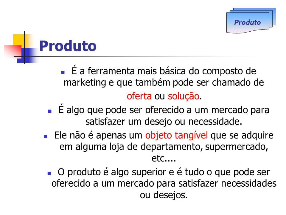 Produto Produto. É a ferramenta mais básica do composto de marketing e que também pode ser chamado de.