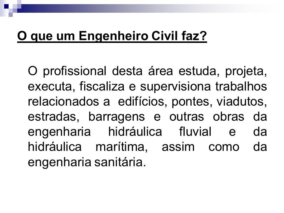 O que um Engenheiro Civil faz