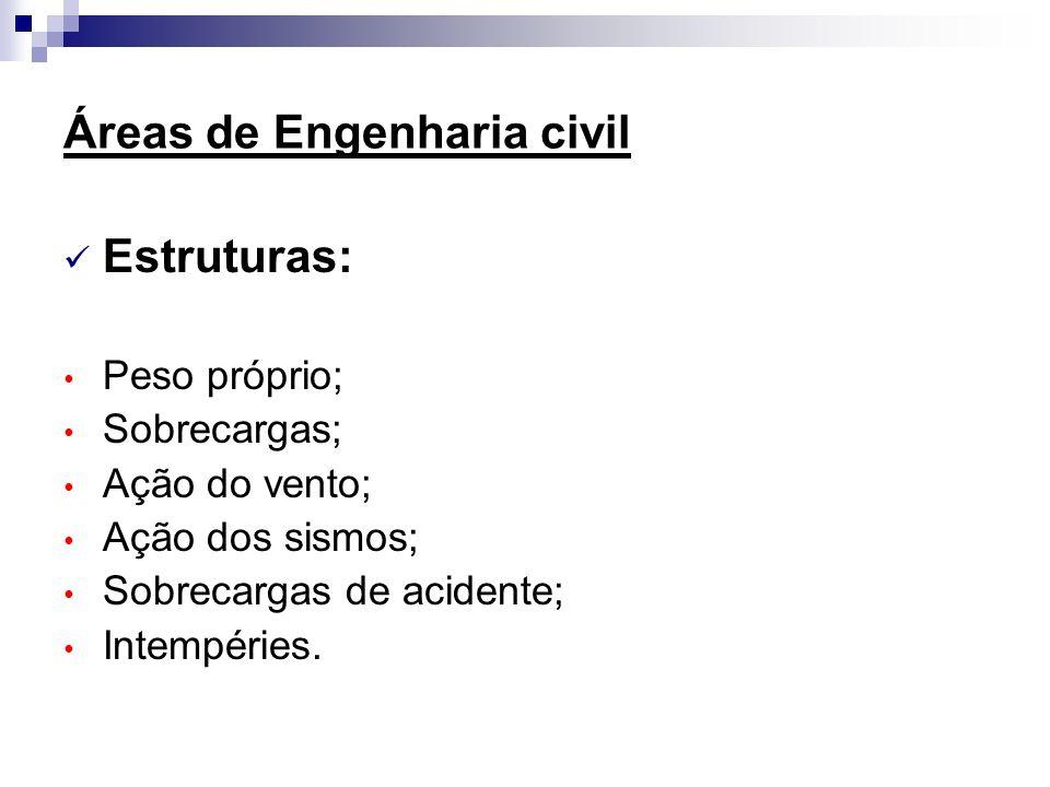 Áreas de Engenharia civil