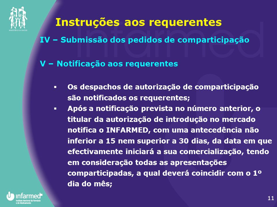 Instruções aos requerentes