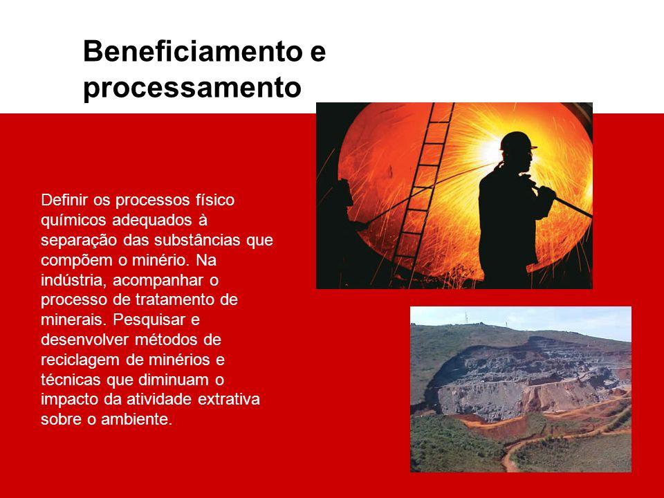Beneficiamento e processamento
