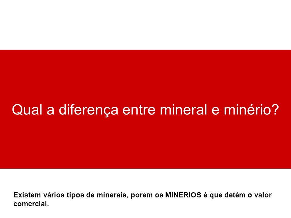 Qual a diferença entre mineral e minério