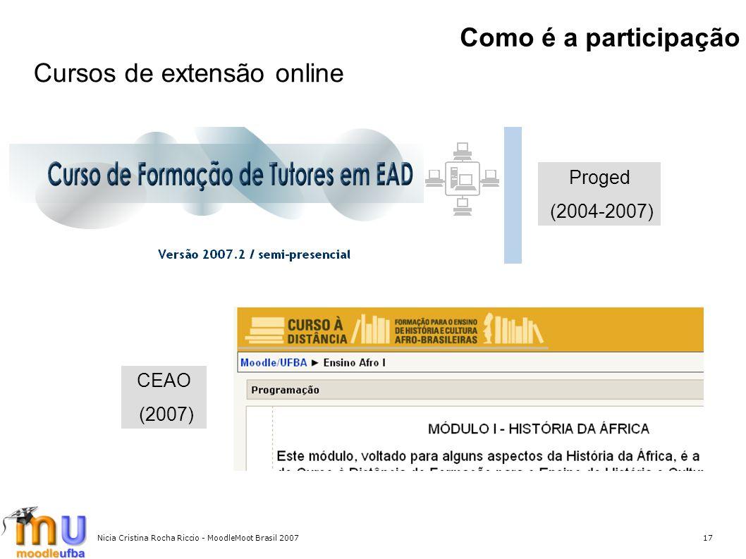Cursos de extensão online
