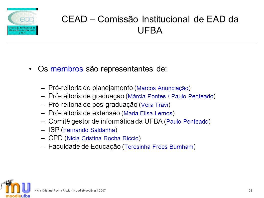 CEAD – Comissão Institucional de EAD da UFBA