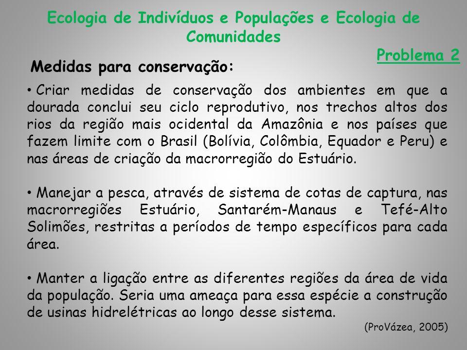 Medidas para conservação:
