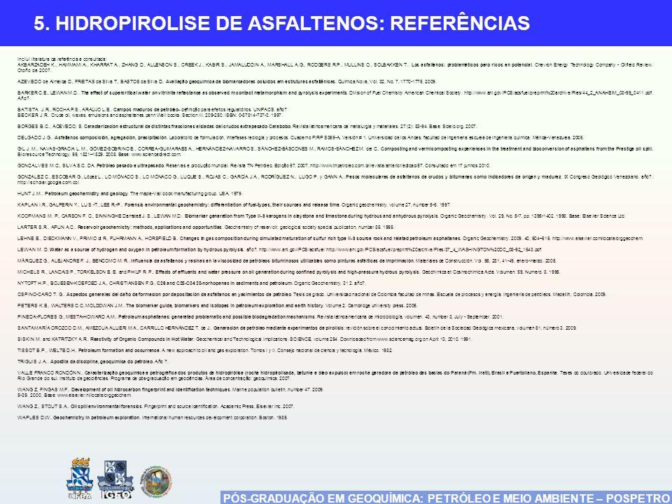5. HIDROPIROLISE DE ASFALTENOS: REFERÊNCIAS