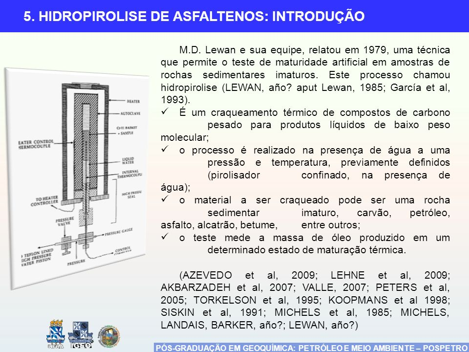 5. HIDROPIROLISE DE ASFALTENOS: INTRODUÇÃO