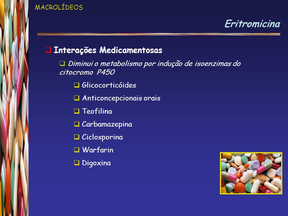 Eritromicina Interações Medicamentosas