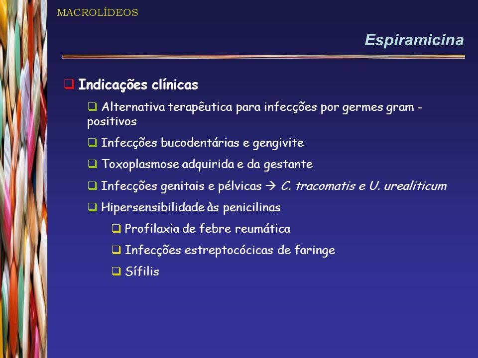 Espiramicina Indicações clínicas