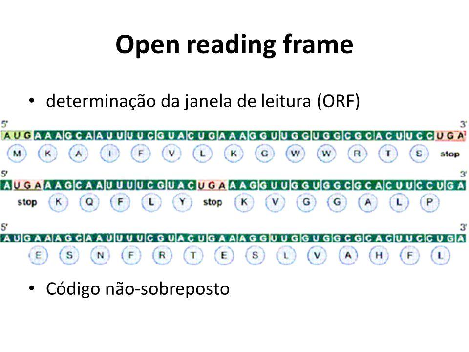 Open reading frame determinação da janela de leitura (ORF)