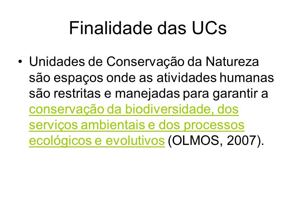 Finalidade das UCs