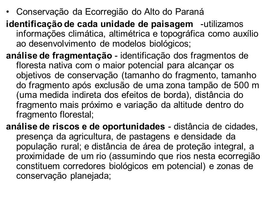 Conservação da Ecorregião do Alto do Paraná
