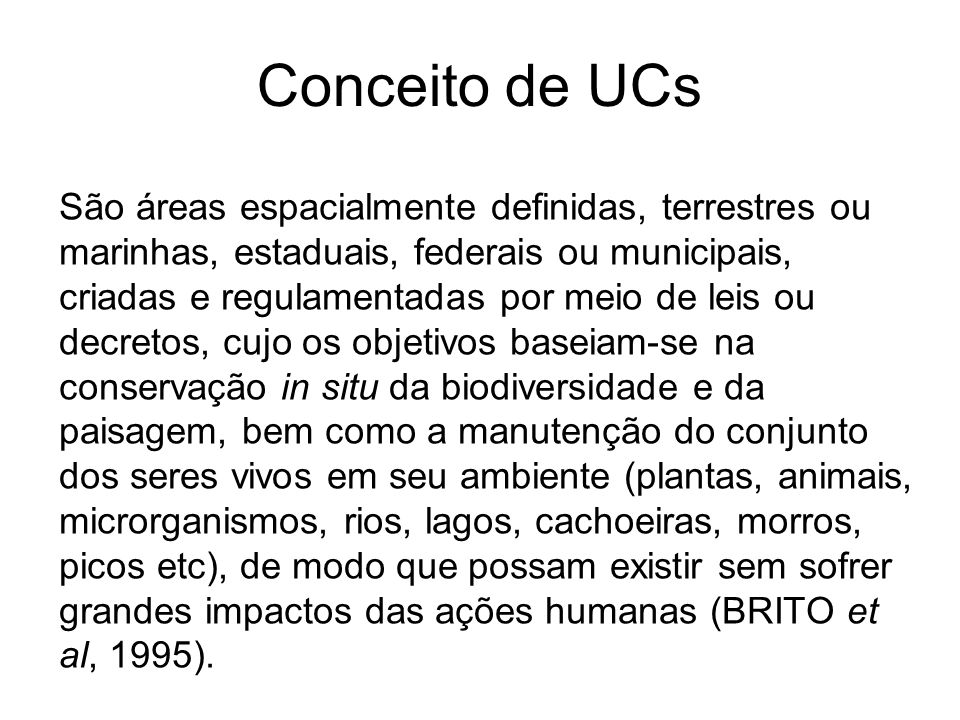Conceito de UCs