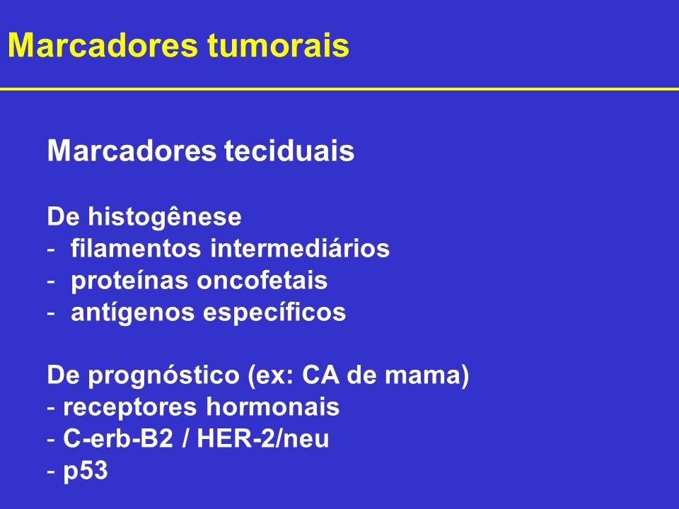 Marcadores tumorais Marcadores teciduais De histogênese