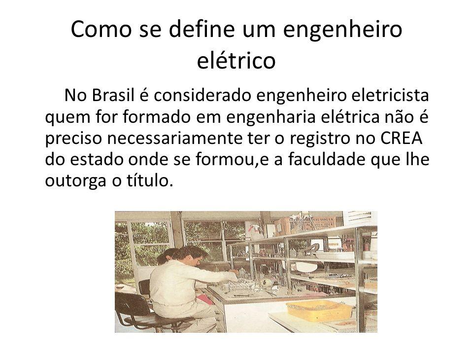 Como se define um engenheiro elétrico