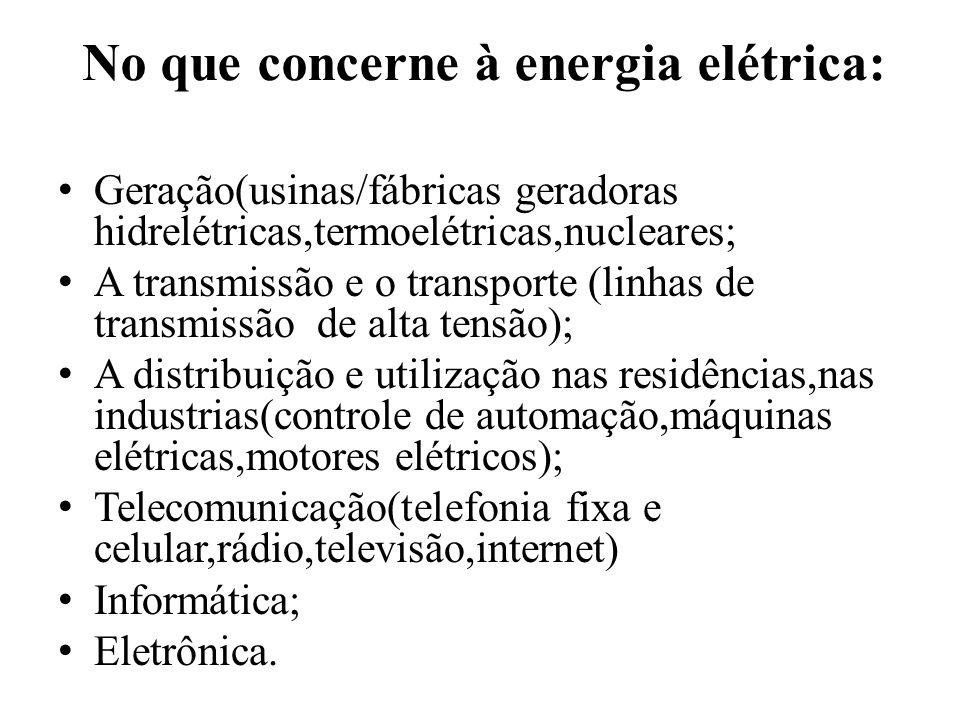 No que concerne à energia elétrica: