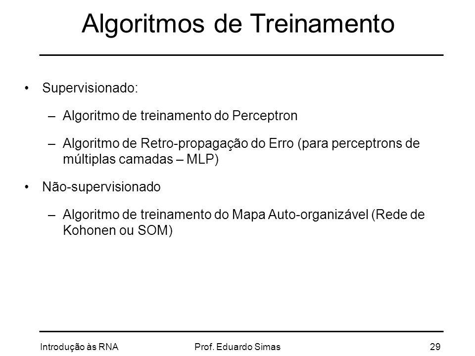 Algoritmos de Treinamento