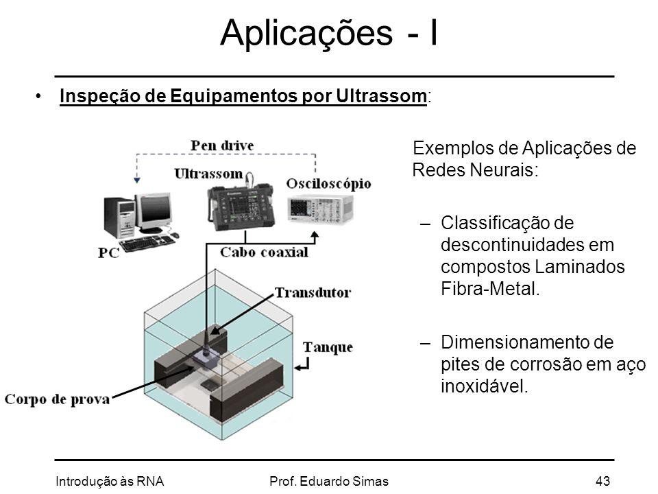 Aplicações - I Inspeção de Equipamentos por Ultrassom: